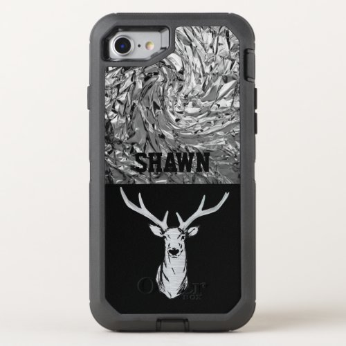 Silver Textured Stag Deer Hunting Phone Case Phone Case