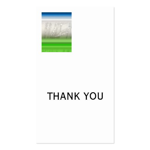 Silver THANK YOU Business Card