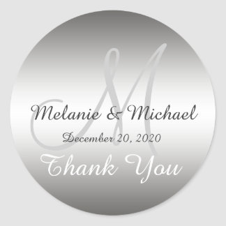 Wedding Thank You Stickers Zazzle