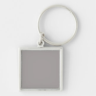 Silver Thistle in an English Country Garden Silver-Colored Square Keychain