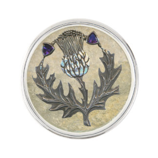 Silver Thistle Pin