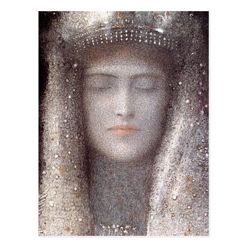 Silver Tiara by French Symbolist Odilon Redon Postcard