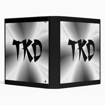 Silver TKD Binder