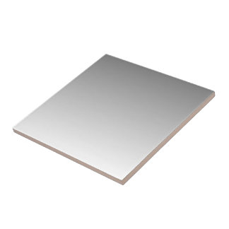 Silver to White Gradient Small Square Tile
