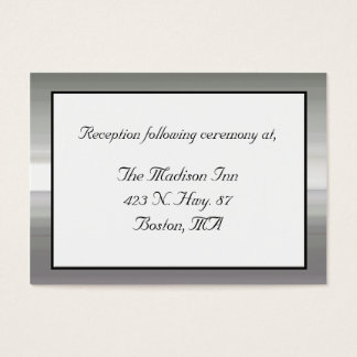 Silver tone framed Wedding enclosure cards