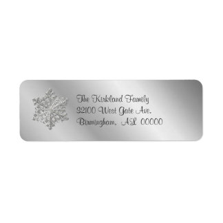 Silver tone Snowflake Address Labels