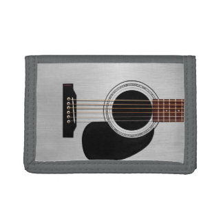 Silver Top Acoustic Guitar Trifold Wallets