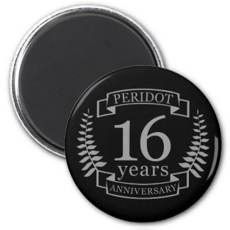 Silver Traditional wedding anniversary 16 years Magnet