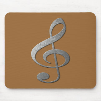 silver treble clef mousepads