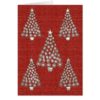 Silver Tree Christmas Card2 Card