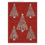 Silver Tree Christmas Card2 Cards