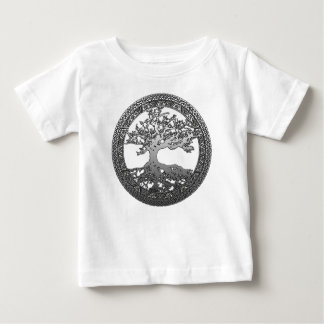 Silver Tree of Life Baby T-Shirt