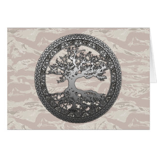 Silver Tree of Life Card