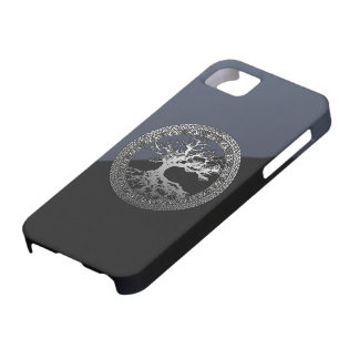 Silver Tree of Life iPhone 5 Covers