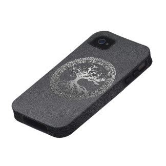 Silver Tree of Life Case-Mate iPhone 4 Case