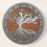 Silver Tree of Life Coasters