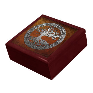 Silver Tree of Life Keepsake Box