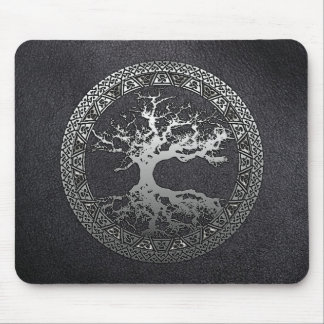Silver Tree of Life Mouse Pad