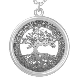 Silver Tree of Life Personalized Necklace
