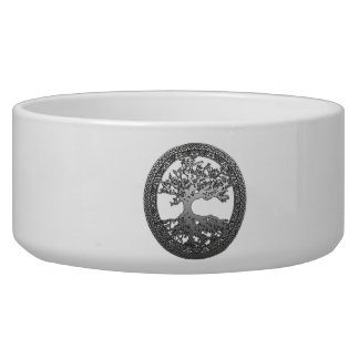 Silver Tree of Life Dog Water Bowls