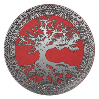 Silver Tree of Life Plate