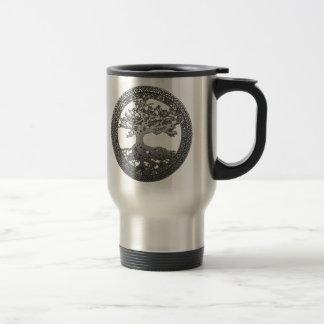 Silver Tree of Life Travel Mug
