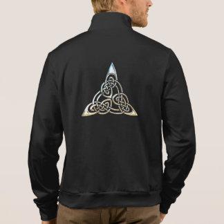 Silver Triangle Spirals Celtic Knot Design Jackets