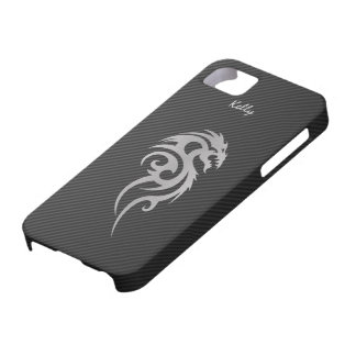 Silver Tribal Dragon Tattoo iPhone 5 Case