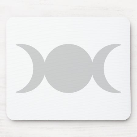 Silver Triple Goddess Mouse Pads