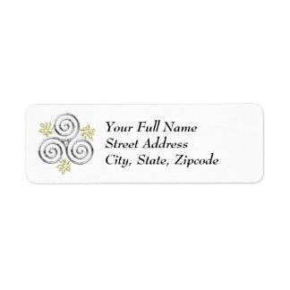 Silver Triple Spiral & Holly Leaves - Return Label