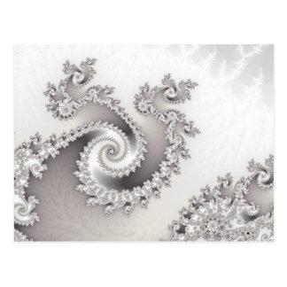 Silver Triple Twirl Postcard