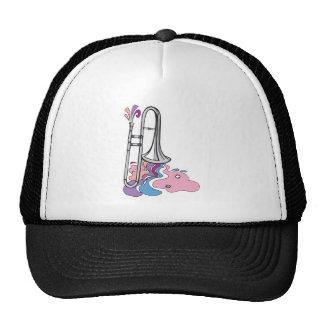 silver trombone design trucker hat