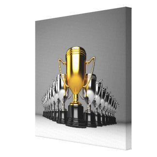 Silver Trophys 2 Canvas Print