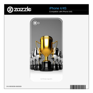 Silver Trophys 3 Decal For iPhone 4