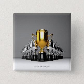 Silver Trophys 3 Pinback Button