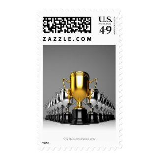 Silver Trophys 3 Stamp