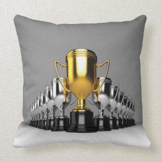 Silver Trophys 3 Throw Pillow