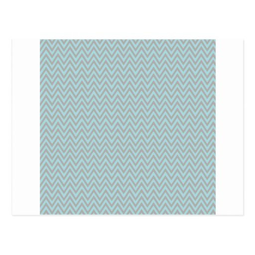 Silver & Turquoise Chevron Stripes Post Card
