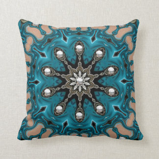 Silver Turquoise. Throw Pillow