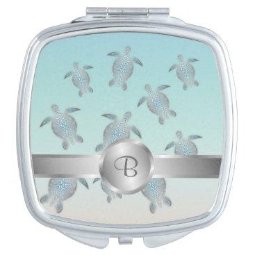 Beach Themed Silver Turtles Beach Style Makeup Mirror