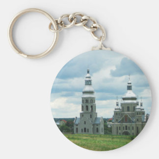 Silver Ukrainian Churches Keychain