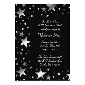 Silver Under the Stars Prom Formal Card