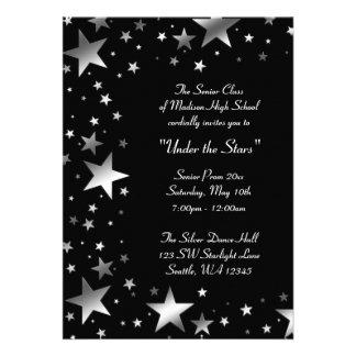 Silver Under the Stars Prom Formal Custom Invitation