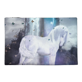 Silver Unicorn Travel Accessories Bag
