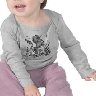 Silver Unicorn Herald T-shirts