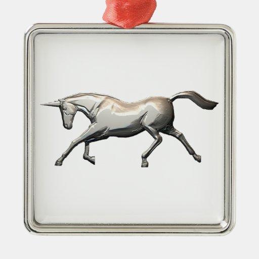 Silver Unicorn Ornaments