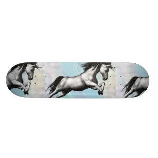 Silver Unicorn Skateboard Deck