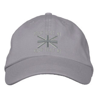 Silver Union Jack Flag England Swag Embroidery Cap