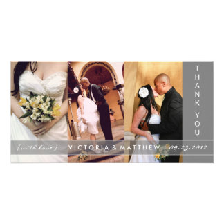 SILVER UNION   WEDDING THANK YOU CARD PHOTO CARD