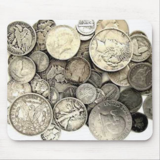 Silver US Coins Mouse Pad